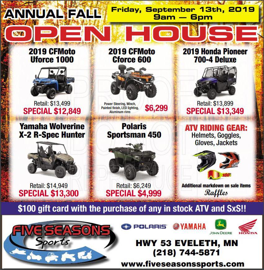 Home FIVE SEASONS SPORTS EVELETH, MN (218) 744-5871