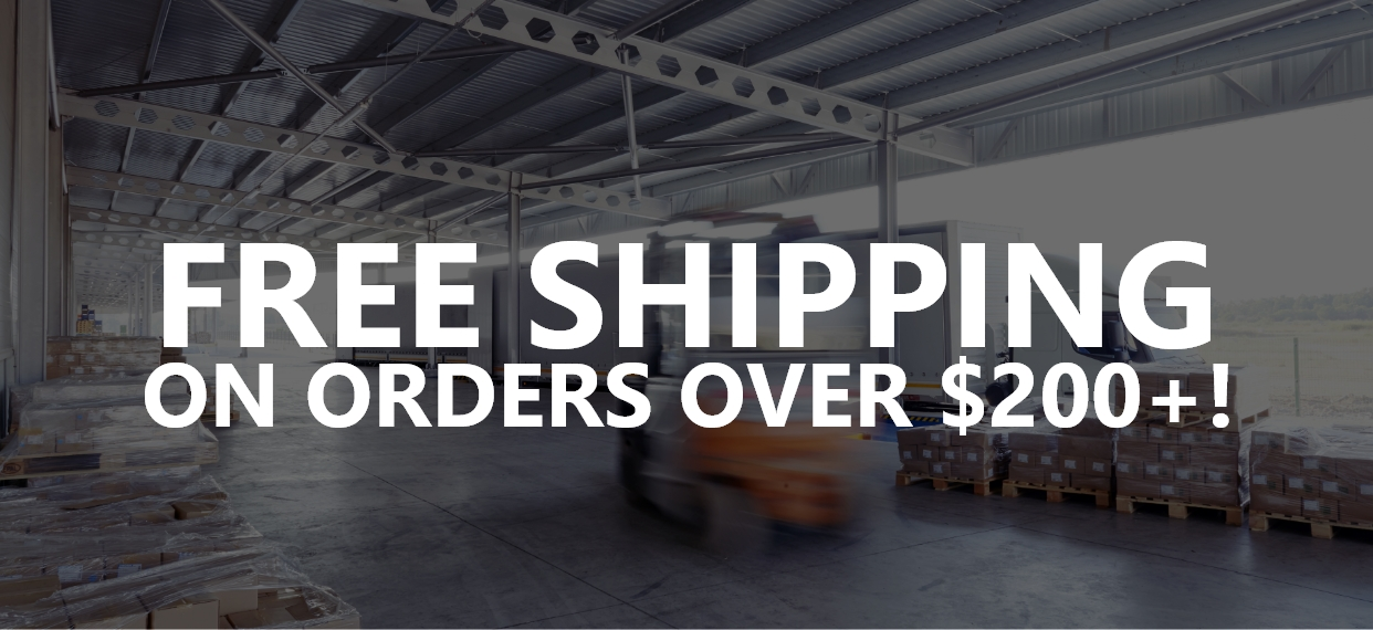 Free Shipping on Orders Over $200+