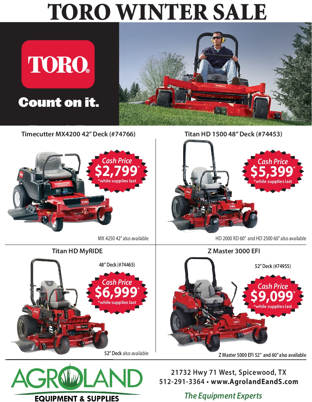 Toro Winter Sale